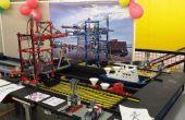 Port miniature avec grues Lego