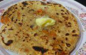 Comment faire carotte Parantha (Orange Parantha)