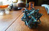 Sculpture d'origami complexe : K3 - 20 tissé triangles - pas de colle