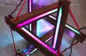 Lampe led interactive | tenségrité structure + arduino