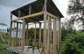 Hangar bois ou hangar de bois de chauffage - bois stockage hangar idée