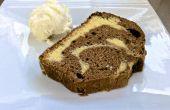 Gâteau marbré de blanc + chocolat