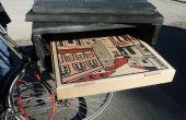 Porte-vélo Pizza construit à partir de matériaux de rebut