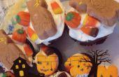 Purée de bananes Cupcakes chocolat Halloween