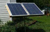 Système d'énergie solaire avec des composants sous à vélo vers le haut.