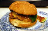 Poblano poulet Burgers avec Hacienda Margaritas