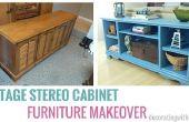 Comment transformer un meuble stéréo Vintage en un superbe Sofa Console Table