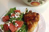 Fromage de chèvre salade de melon d'eau
