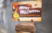 Photo facile / titulaire de carte de Halloween.