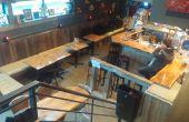 Mes matériaux récupérés Bar « Le salon Treehouse »