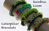Arc-en-ciel à tisser Caterpillar Bracelets
