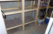 Bacs à légumes - Build Wire Mesh légumes bacs en chambre froide ou racine celar