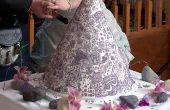 Gâteau de mariage henna/mehndi d'inspiration balinaise