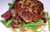 Burgers de porc & veau sans oeufs avec oignon rouge balsamique & relish caper !
