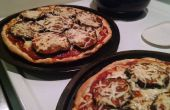 Pizza aubergine copieux