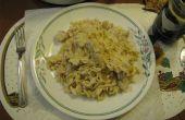 Nouilles et poulet italien
