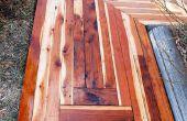 Comment construire un trottoir génial avec recyclé bois pour seulement 50,00 $