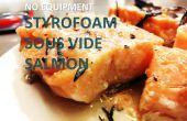 $3 styro-mousse saumon Sous Vide
