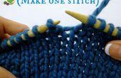 Comment faire une maille en tricotant