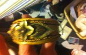 Or Bracelet jonc manchette à argile avec Vintage broche Focal