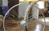 Hommage à la roue de bicyclette de duchamp - un mode dual led lampe (générateur de hub DC ou AC plugin)
