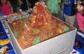 Gâteau d'anniversaire volcan en éruption