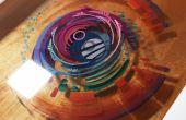 Peinture 3D: couches de résine et peinture acrylique