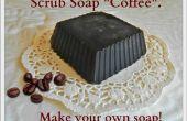 Frotter le savon « Café ». Faire votre propre savon !