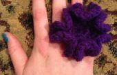 Bague fleur de crochet