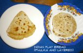 Pain plat indien - Phulka/Roti/Chapati (soufflé) et stratifiés