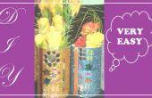 BRICOLAGE fleur Vase hors déchets produits