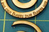 A faire en spirale en bois pendentif