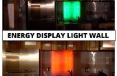 Mur de lumière LED   Affichage de la consommation de l'énergie