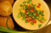 Crémeux au four soupe de pommes de terre (Vegan)