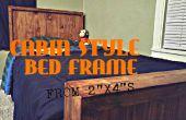 """Cadre de lit de Style (à partir de 2 """"x 4"""" s) de la cabine"""