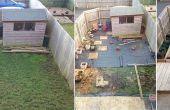Avant et après le petit jardin