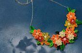 Comment faire de Quilling colliers de fleurs pour les filles