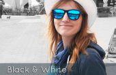 Noir et blanc avec effet de couleur partielle