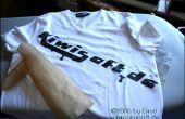 Design de t-shirt instantanée avec imprimante laser