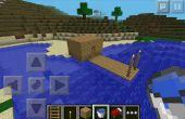 Maison de pêche Minecraft