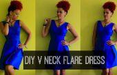 Comment de bricolage un col V Flare robe | Vêtements bricolage
