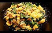 « Un Pot » Orecchiette avec saucisse & épinards
