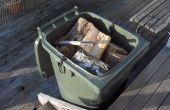 Monter un plancher réglable à un conteneur de bois de chauffage wheelie bin