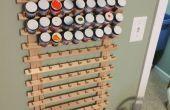 Artisanat ou Rack de stockage de peinture de modèle sur le bon