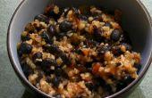 Spicy Black Beans & boulgour
