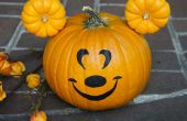 Faire une citrouille de Mickey Mouse Halloween