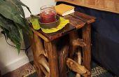 Table de chevet bois flotté