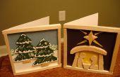 Cartes de Noël pour le bois balsa