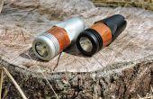 Lampe de poche durable avec des accents en bois