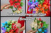 FLEURS de papier de soie : BOUQUET RAINBOW BOUGAINVILLEA
